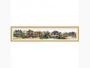 Вышивка с пейзажами Зеленая деревня (DO80302) 163 х 27 см