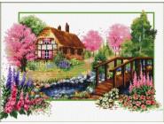 Вышивка с пейзажами Весенний вальс (DO81001) 48 х 32 см