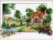 Вышивка с пейзажами Летние духи (DO81002) 47 х 32 см