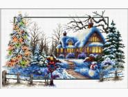 Вышивка с пейзажами Зимняя соната (DO81004) 51 х 32 см