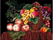 Цветы и натюрморы Классическая корзина с фруктами (DO90909) 61,5 х 47 см