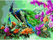 Новинки алмазной вышивки Павлин в цветах