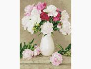 Цветы и букеты Пионы в белой вазе