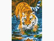 Новинки алмазной вышивки Тигр в воде