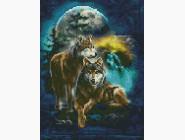 Новинки алмазной вышивки Волки под луной