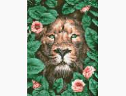 Новинки алмазной вышивки Лев в цветах