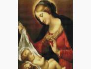 Новинки алмазной вышивки Матерь Божия с младенцем