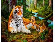 Новинки алмазной вышивки Тигр в лесу