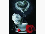 Новинки алмазной вышивки Кофе с розами
