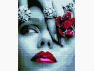 Новинки алмазной вышивки Девушка с цветком