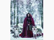 Новинки алмазной вышивки Красная шапочка с волками