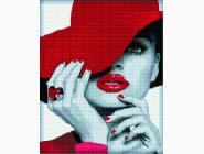 Новинки алмазной вышивки Девушка в красном