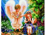 Новинки алмазной вышивки Ангел с девочкой