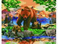 Новинки алмазной вышивки Семья медведей