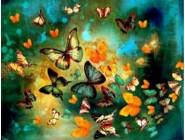 Новинки алмазной вышивки Танец бабочек (GL77916)