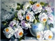 Новинки алмазной вышивки Белые розы (GL77917)