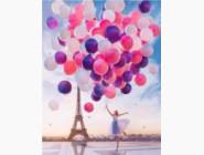 Новинки алмазной вышивки Девушка с воздушными шарами (30112)