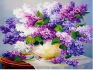 Новинки алмазной вышивки Сирень в вазе (GM70845)