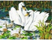 Новинки алмазной вышивки Семья лебедей (GD71207)