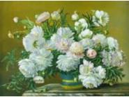 Новинки алмазной вышивки Натюрморт белых цветов (GM74224)