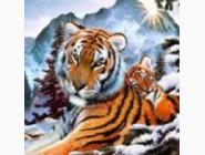 Новинки алмазной вышивки Семья тигров (ME20400)