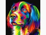 Новинки алмазной вышивки Радужный пёс (ME20809)