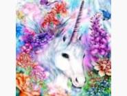 Новинки алмазной вышивки Единорог в цветах (ME21310)