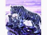 Новинки алмазной вышивки Белые тигры (ME24480)
