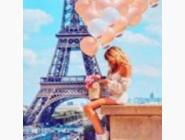 Новинки алмазной вышивки Девушка в Париже (ME24531)