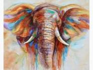 Новинки алмазной вышивки Разноцветный слон (ME25077)