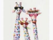 Новинки алмазной вышивки Жирафы в очках (ME25193)