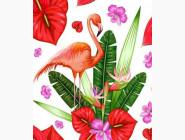 алмазная вышивка Фламинго
