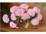 Цветы и букеты Розовые пионы (AKG74932, принтованая рама)
