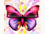 Сиреневая бабочка (ME21195)