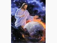 Новинки алмазной вышивки Иисус охраняет мир (GL75444)