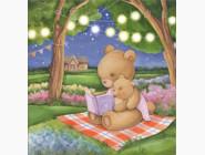 Алмазная вышивка для детей Интересная сказочка (JA27460, частичная выкладка)