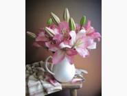 Новинки алмазной вышивки Розовые лилии (GL73648)