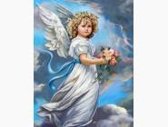 Новинки алмазной вышивки Ангел с цветами (GL70743)