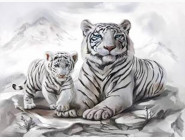 Новинки алмазной вышивки Бенгальские тигры (GA73257)