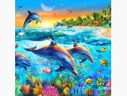 Новинки алмазной вышивки Дельфины (ME25122)