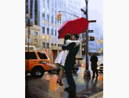 Пара под зонтом