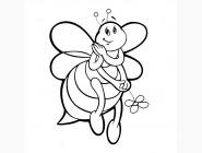 Детские раскраски по цифрам без коробки Пчелка