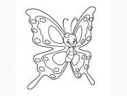 Детские раскраски по цифрам без коробки Бабочка