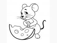 Детские раскраски по цифрам без коробки Мышка