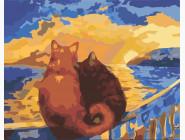 Коты и собаки Коты на закате