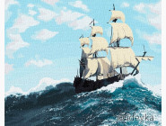 Море, морской пейзаж, корабли Бурные волны
