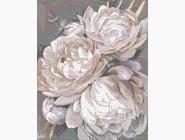 Цветы, натюрморты, букеты Белый пион с золотой краской. Александра Озерова