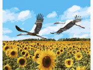 Птицы и бабочки картины по номерам Аисты в небе