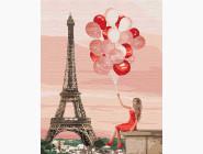 Портреты, люди на картинах по номерам Красные краски Париже