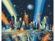 Городской пейзаж Лучи мегаполиса